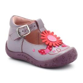 chaussures à boucle violet bébé