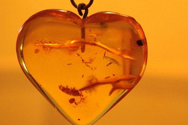 Coeur ambre