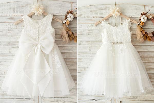 Longueur robe de cérémonie pour fillette
