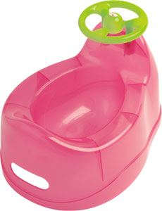 pot bébé rose avec volant vert